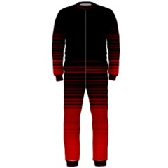 Abstract Of Red Horizontal Lines Onepiece Jumpsuit (men)