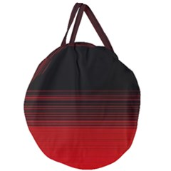 Abstract Of Red Horizontal Lines Giant Round Zipper Tote