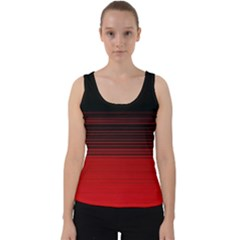 Abstract Of Red Horizontal Lines Velvet Tank Top by Jojostore