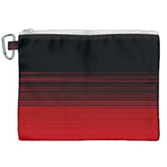 Abstract Of Red Horizontal Lines Canvas Cosmetic Bag (xxl) by Jojostore