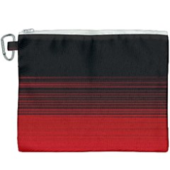 Abstract Of Red Horizontal Lines Canvas Cosmetic Bag (xxxl) by Jojostore