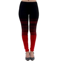 Abstract Of Red Horizontal Lines Lightweight Velour Leggings by Jojostore