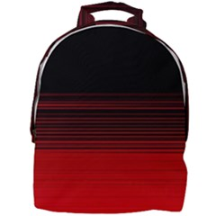 Abstract Of Red Horizontal Lines Mini Full Print Backpack by Jojostore