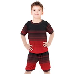 Abstract Of Red Horizontal Lines Kid s Set by Jojostore