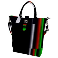 Colorful Neon Background Images Buckle Top Tote Bag