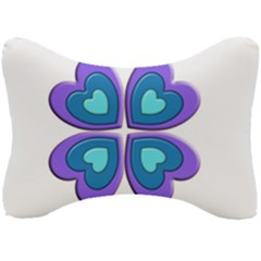 Light Blue Heart Images Seat Head Rest Cushion by Jojostore