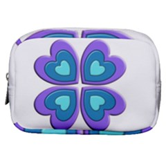 Light Blue Heart Images Make Up Pouch (small)