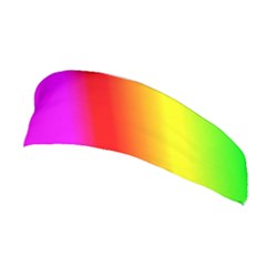 Multi Color Rainbow Background Stretchable Headband