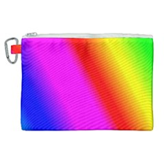 Multi Color Rainbow Background Canvas Cosmetic Bag (xl)