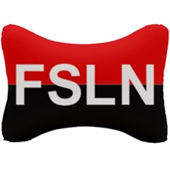 Flag Of Sandinista National Liberation Front Seat Head Rest Cushion by abbeyz71
