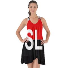Flag Of Sandinista National Liberation Front Show Some Back Chiffon Dress