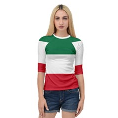 Patriote Flag Quarter Sleeve Raglan Tee by abbeyz71