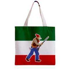 Patriote Flag With Le Vieux De  37 Zipper Grocery Tote Bag by abbeyz71