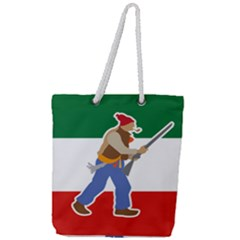 Patriote Flag With Le Vieux De  37 Full Print Rope Handle Tote (large) by abbeyz71