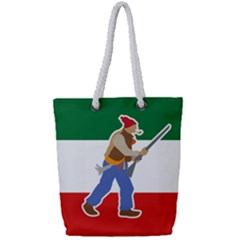 Patriote Flag With Le Vieux De  37 Full Print Rope Handle Tote (small) by abbeyz71
