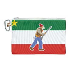 Patriote Flag With Le Vieux De  37 Canvas Cosmetic Bag (large) by abbeyz71