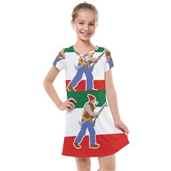 Patriote Flag With Le Vieux De  37 Kids  Cross Web Dress by abbeyz71