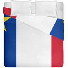 Flag Of Acadia Duvet Cover Double Side (king Size) by abbeyz71