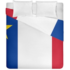 Flag Of Acadia Duvet Cover Double Side (california King Size)