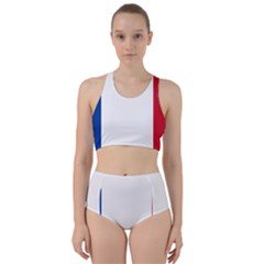Flag Of Acadia Racer Back Bikini Set