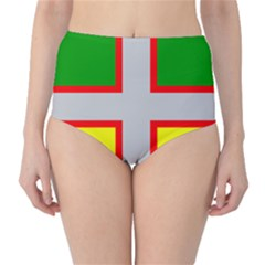 Flag Of Saguenay Lac Saint Jean Classic High Waist Bikini Bottoms