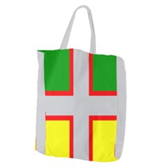 Flag Of Saguenay Lac Saint Jean Giant Grocery Tote by abbeyz71