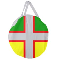 Flag Of Saguenay Lac Saint Jean Giant Round Zipper Tote by abbeyz71