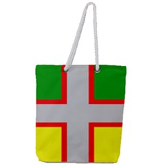 Flag Of Saguenay Lac Saint Jean Full Print Rope Handle Tote (large) by abbeyz71