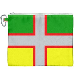 Flag Of Saguenay Lac Saint Jean Canvas Cosmetic Bag (xxxl) by abbeyz71