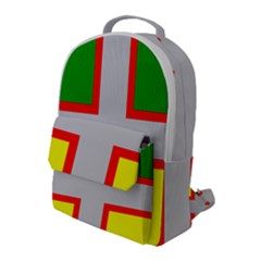 Flag Of Saguenay Lac Saint Jean Flap Pocket Backpack (large) by abbeyz71