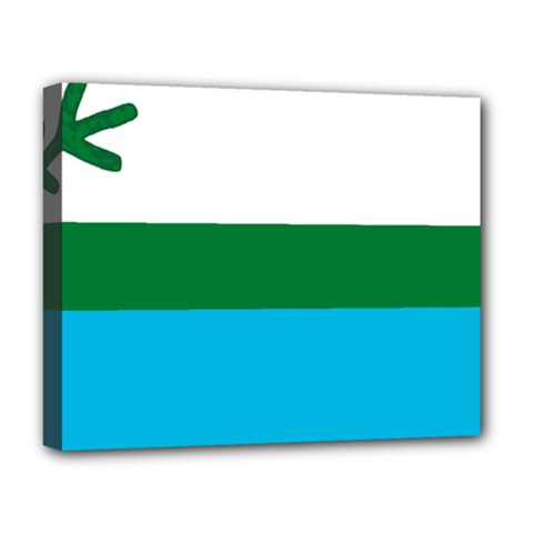 Flag Of Labrador Deluxe Canvas 20  X 16  (stretched) by abbeyz71