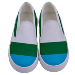 Flag Of Labrador Kids  Canvas Slip Ons