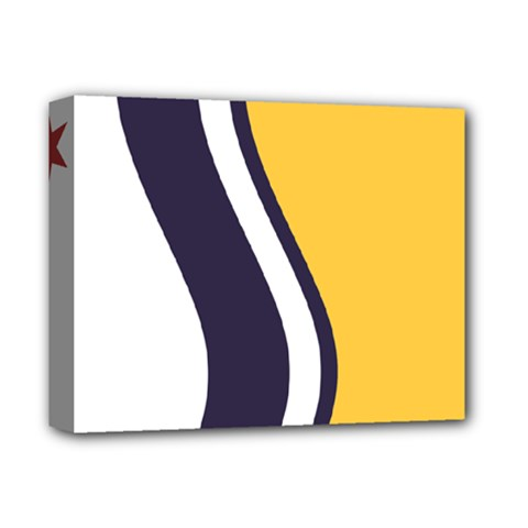 Flag Of South Bend, Indiana Deluxe Canvas 14  X 11  (stretched) by abbeyz71