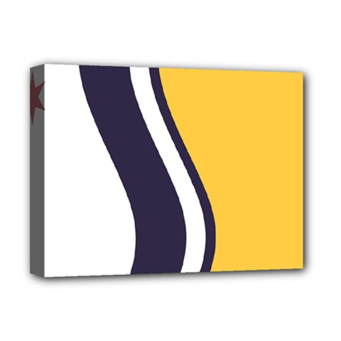 Flag Of South Bend, Indiana Deluxe Canvas 16  X 12  (stretched)  by abbeyz71