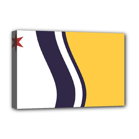 Flag Of South Bend, Indiana Deluxe Canvas 18  X 12  (stretched) by abbeyz71