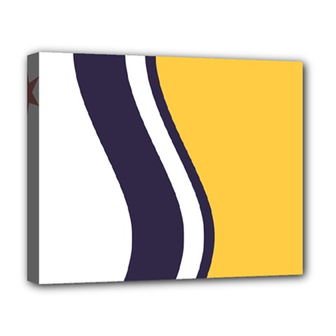 Flag Of South Bend, Indiana Deluxe Canvas 20  X 16  (stretched) by abbeyz71