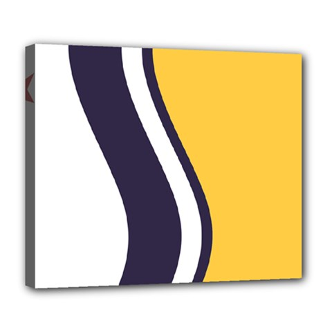 Flag Of South Bend, Indiana Deluxe Canvas 24  X 20  (stretched) by abbeyz71