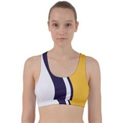 Flag Of South Bend, Indiana Back Weave Sports Bra