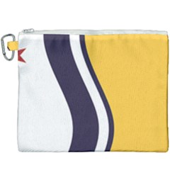 Flag Of South Bend, Indiana Canvas Cosmetic Bag (xxxl) by abbeyz71