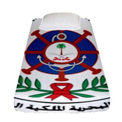 Logo Of Royal Saudi Navy Fitted Sheet (single Size) by abbeyz71