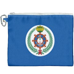 Naval Jack Of Saudi Arabia Canvas Cosmetic Bag (xxxl) by abbeyz71