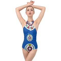 Naval Jack Of Saudi Arabia Cross Front Low Back Swimsuit