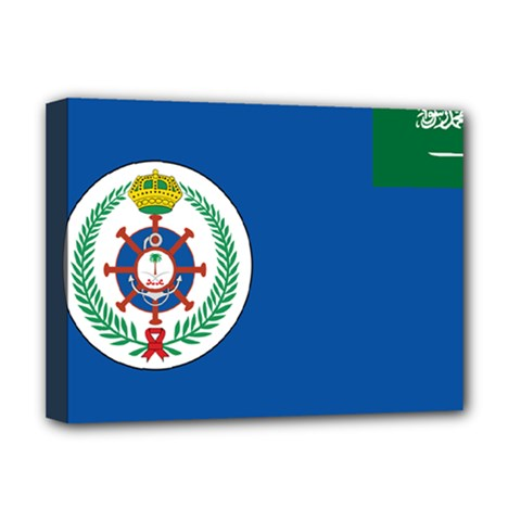 Naval Base Flag Of Royal Saudi Arabian Navy Deluxe Canvas 16  X 12  (stretched)  by abbeyz71
