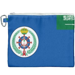 Naval Base Flag Of Royal Saudi Arabian Navy Canvas Cosmetic Bag (xxxl) by abbeyz71