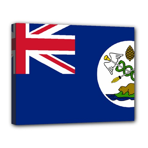 Flag Of Vancouver Island Canvas 14  X 11  (stretched) by abbeyz71