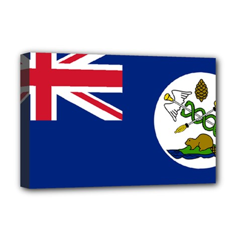 Flag Of Vancouver Island Deluxe Canvas 18  X 12  (stretched) by abbeyz71