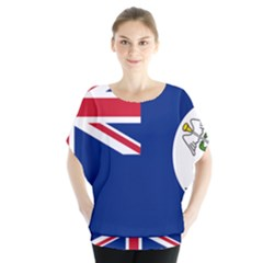Flag Of Vancouver Island Batwing Chiffon Blouse