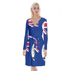 Flag Of Vancouver Island Long Sleeve Velvet Front Wrap Dress by abbeyz71