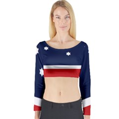 Flag Of Western Canada Long Sleeve Crop Top