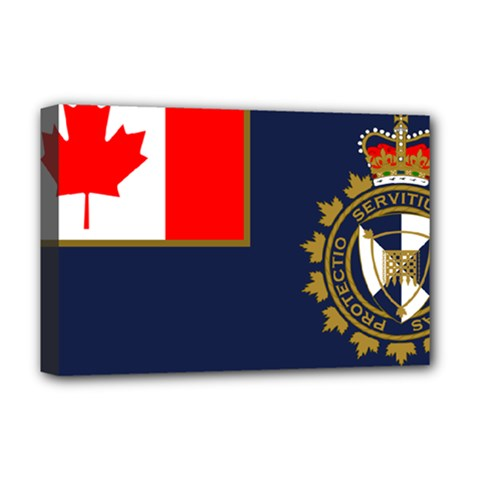 Flag Of Canada Border Services Agency Deluxe Canvas 18  X 12  (stretched) by abbeyz71